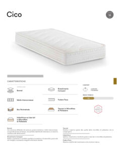 scheda tecnica materasso cico